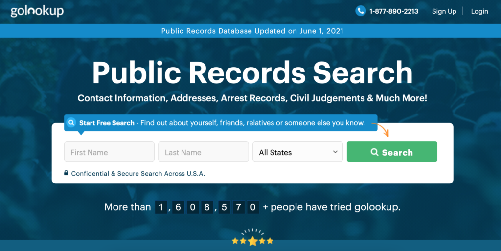 If you want a more robust result when you search, you can use the GoLookUp website.